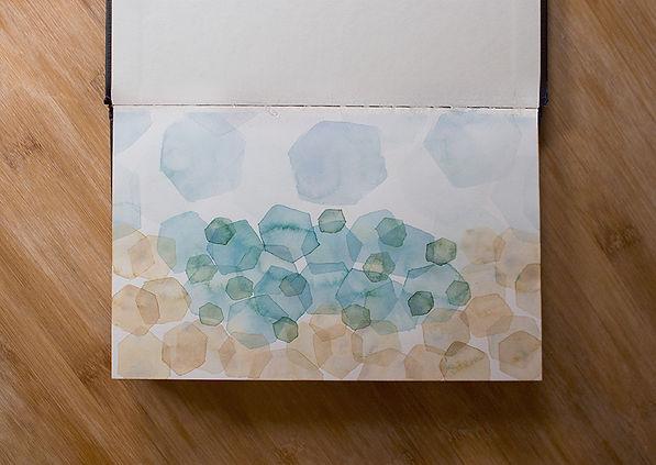 Hexagonal Beach Watercolor Painting