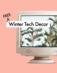 Free Winter Tech Decor