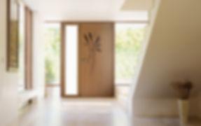 Pose de porte aluminium et bois thonon