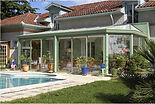 Vérandas Reynears thermolaquée avec toiture pleine à Thonon 74
