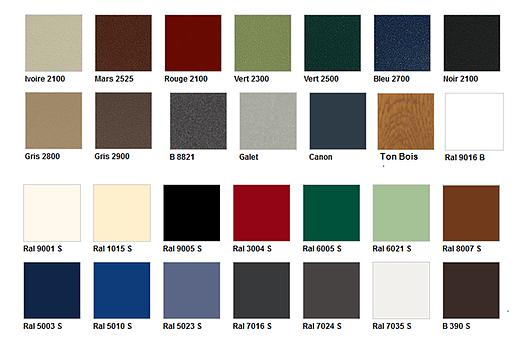 Choix de coloris fenêtre aluminium et bois Roch Fermtures Margencel