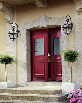Double portes d'entrée evian