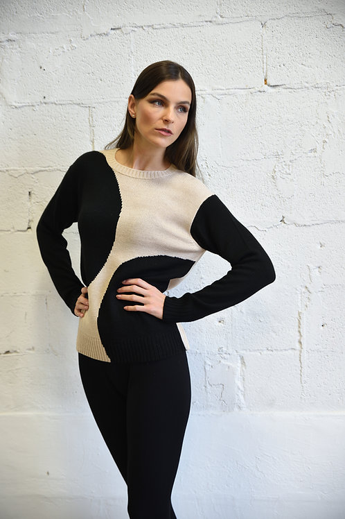 Double dot sweater