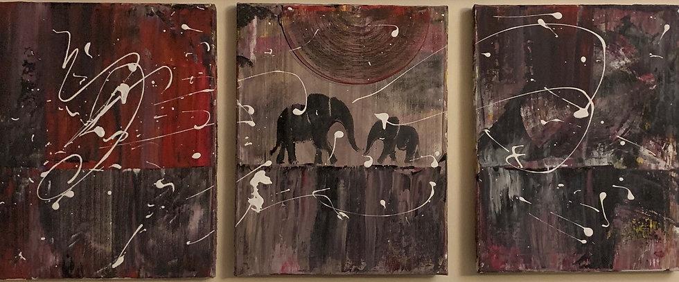 Elephant Triptych