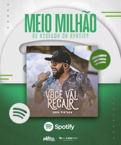 """Mais de MEIO MILHÃO DE STREAMS no sucesso """"Você Vai Recair"""""""