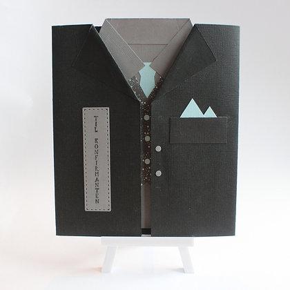 Skjorte-konfirmasjonskort