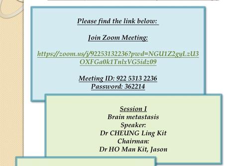 Monthly academic meeting 6/2020