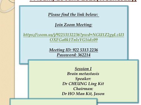 Monthly academic meeting 6/2020