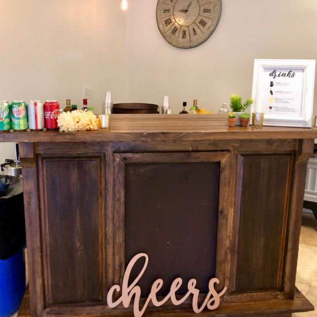Indoor Bar Setup
