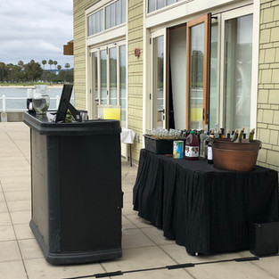 Outdoor Mobile Bar Setup