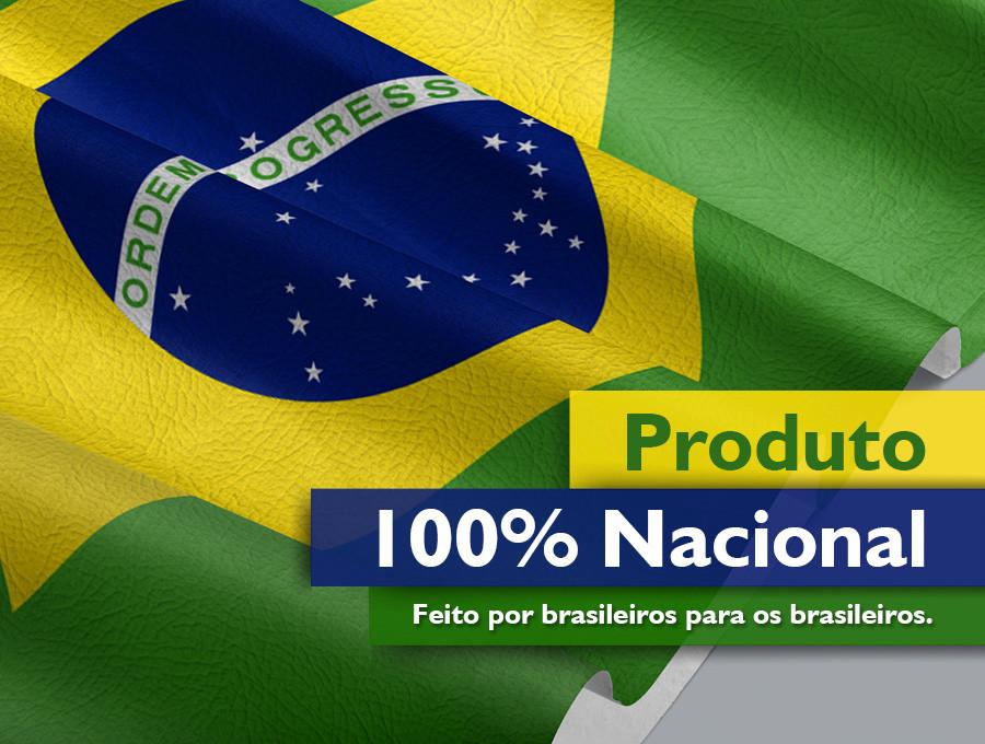 Produto 100% nacional. Feito por brasileiros para os brasileiros.