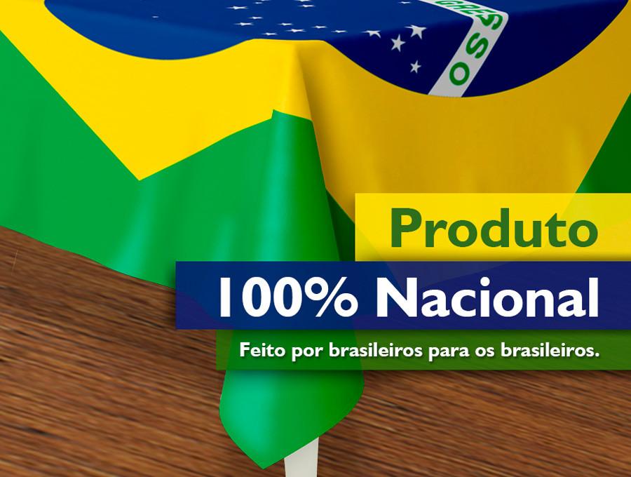 Produto 100% Nacional • Feito por brasileiros para os brasileiros
