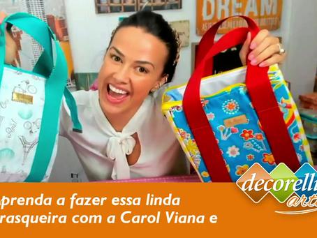 Vídeo aula gratuita! Aprenda com a Carol Viana a fazer uma linda frasqueira usando Decorelli Arte.