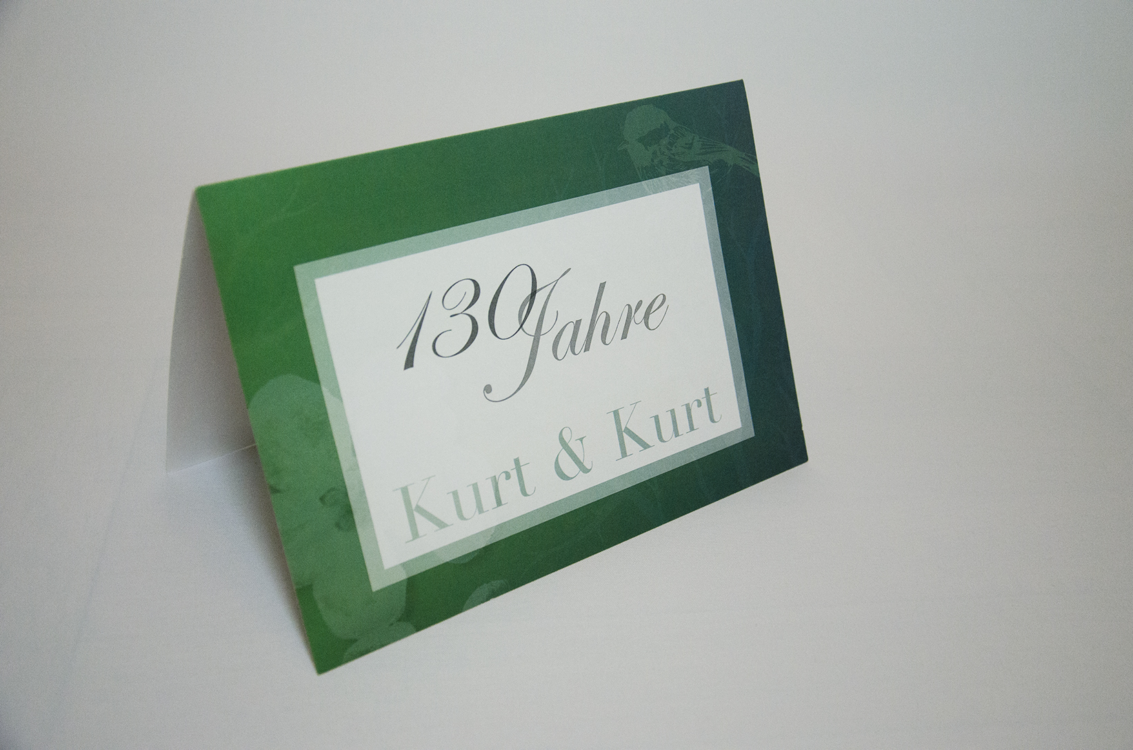 Einladung 130 Jahre Kurt&Kurt