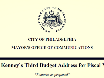 Mayor Kenney: 2018 Budget Address