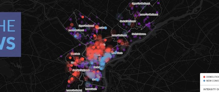 New: Philadelphia Demolitions & New Construction Map, 2003-2016