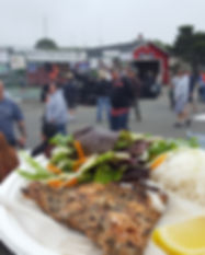 Salmon Plate Served at Fish Fest 2019
