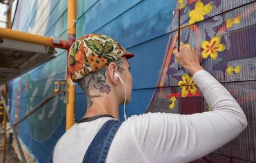 Eureka Street Art Festival   Spin Mural