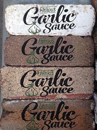 Carved brick etched brick