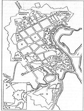 Крепость Бобруйск. План 1810 г.  (по Е. Квитницкой)