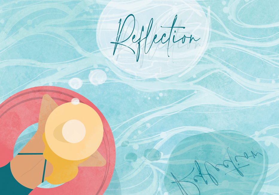July Illustration / theme: Reflection