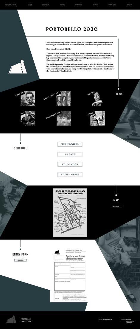 Portobello Film Festival Website