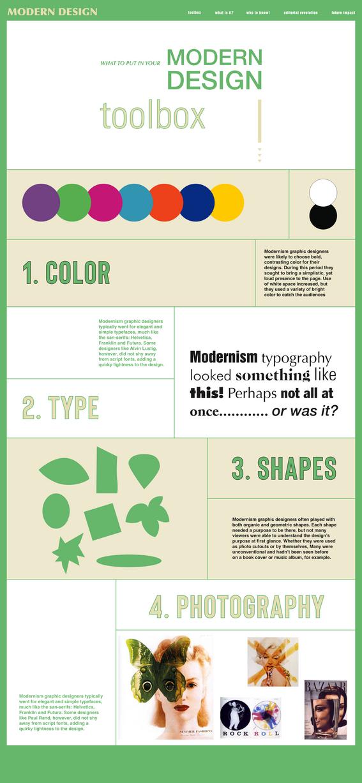 Modernism Interactive Website