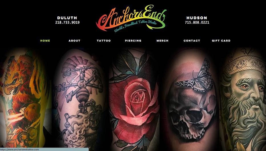 Anchors End Tattoo