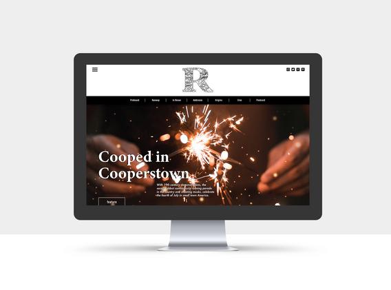 Root Magazine Homepage Mockup