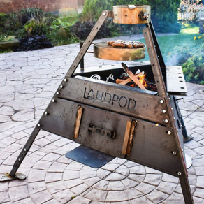 Landpod Campfire - the world's first all terrain Campfire and Oven Combo!