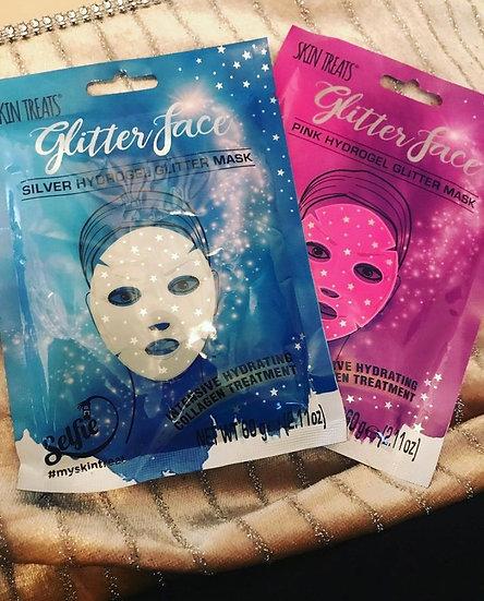 4pk Glitter Face Hydrogel Face Sheet Masks