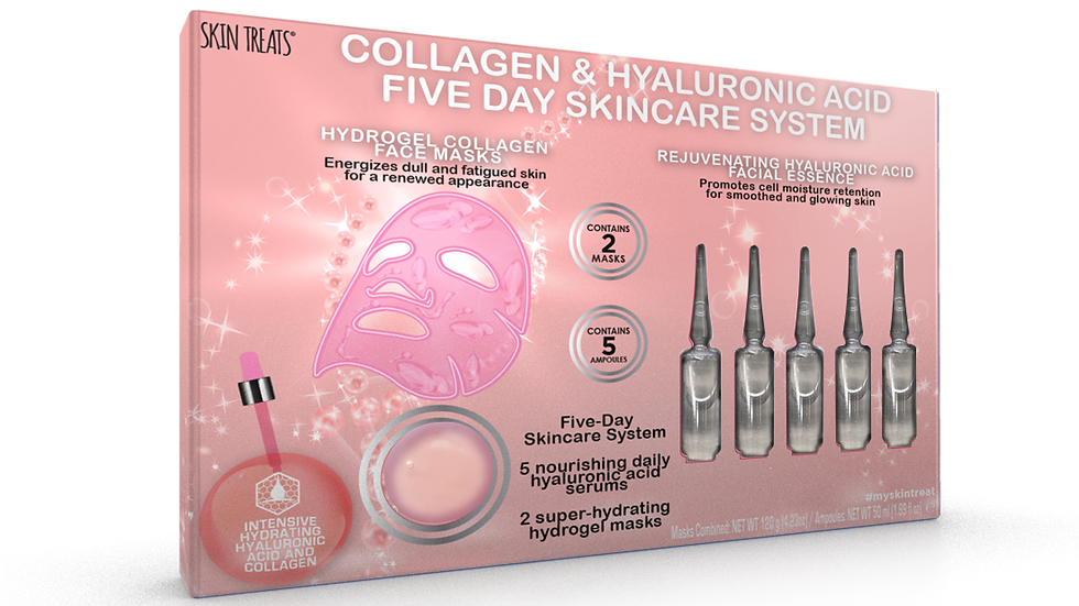 Five Day Skincare System           Collagen & Hyaluronic Acid