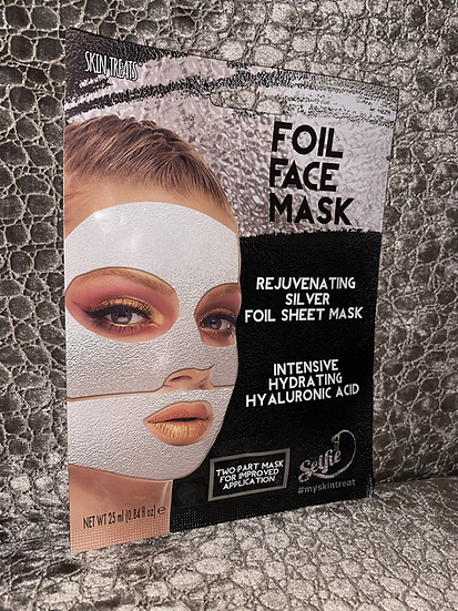 3pk Silver Foil Face Mask