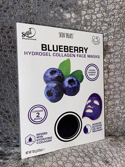 6pk Blueberry Collagen Hydrogel Sheet Masks