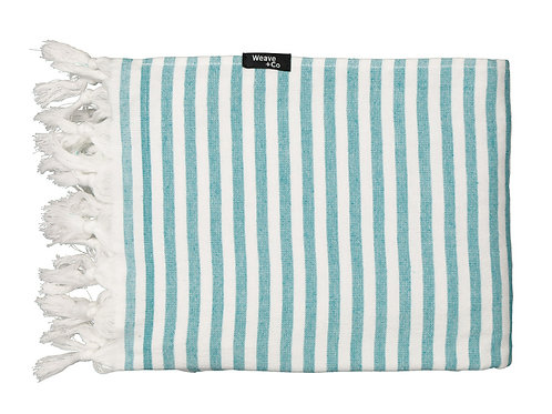 Sea Green Stripy Terry