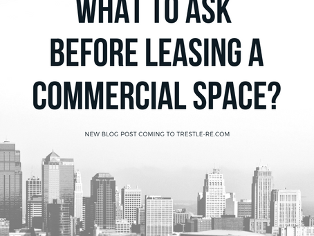 What to ask before leasing a commercial space?