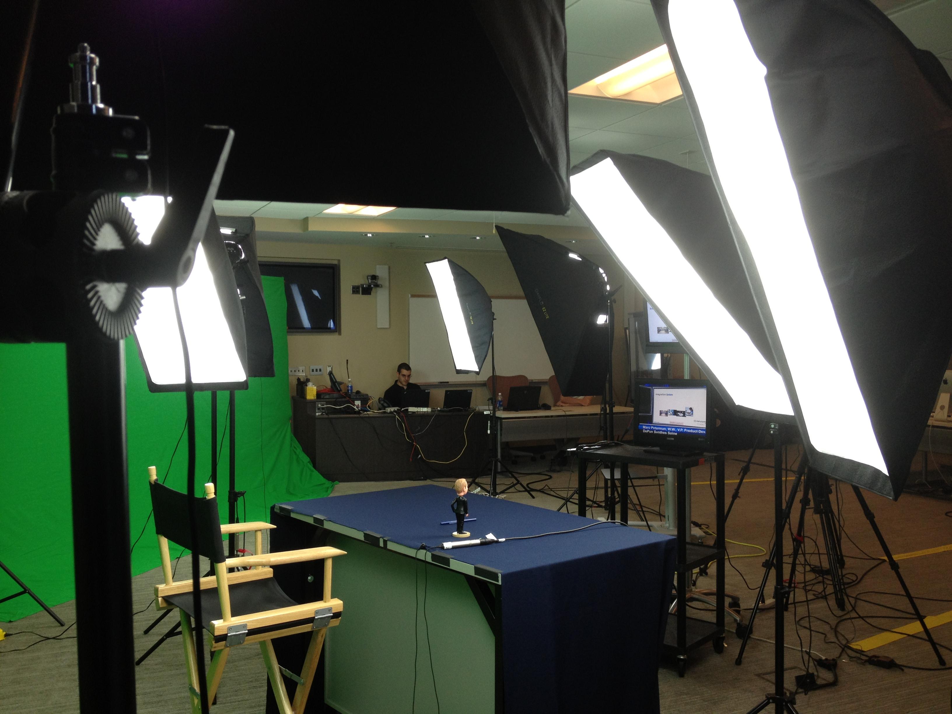 Green Screen Anchor Desk Set