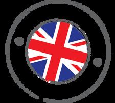 Truxta Logo UK Flag 80mm dia Half White.