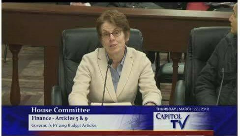 Terri Cortvriend testifying at the House Finance Committee for Fix Our Schools Bond