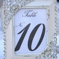 Small frame table numbers