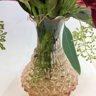 Blush Clear Tall Vases