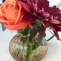 Blush Clear Bud Vases