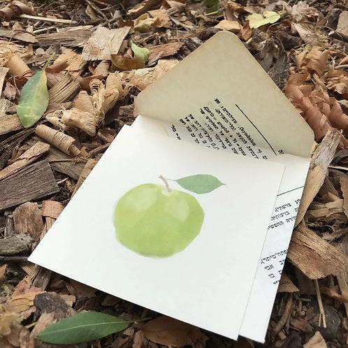 כרטיס ברכה מאוייר תפוח
