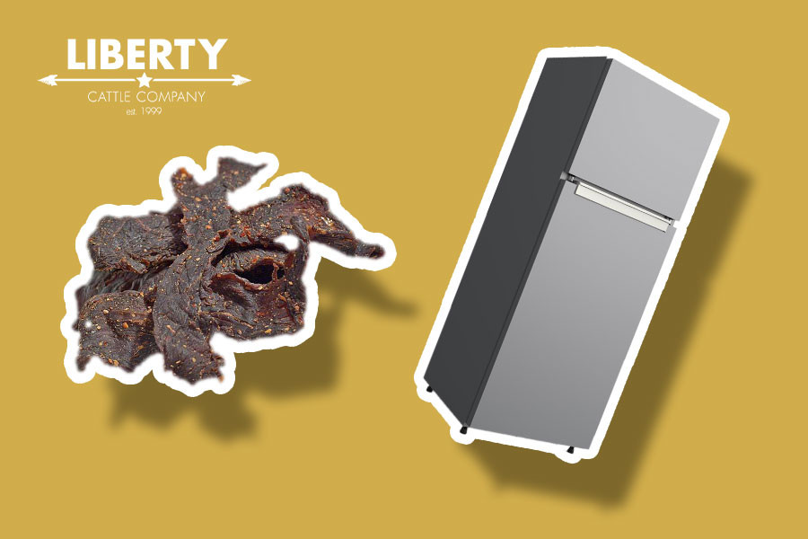 thumbnail showing beef jerky and a fridge