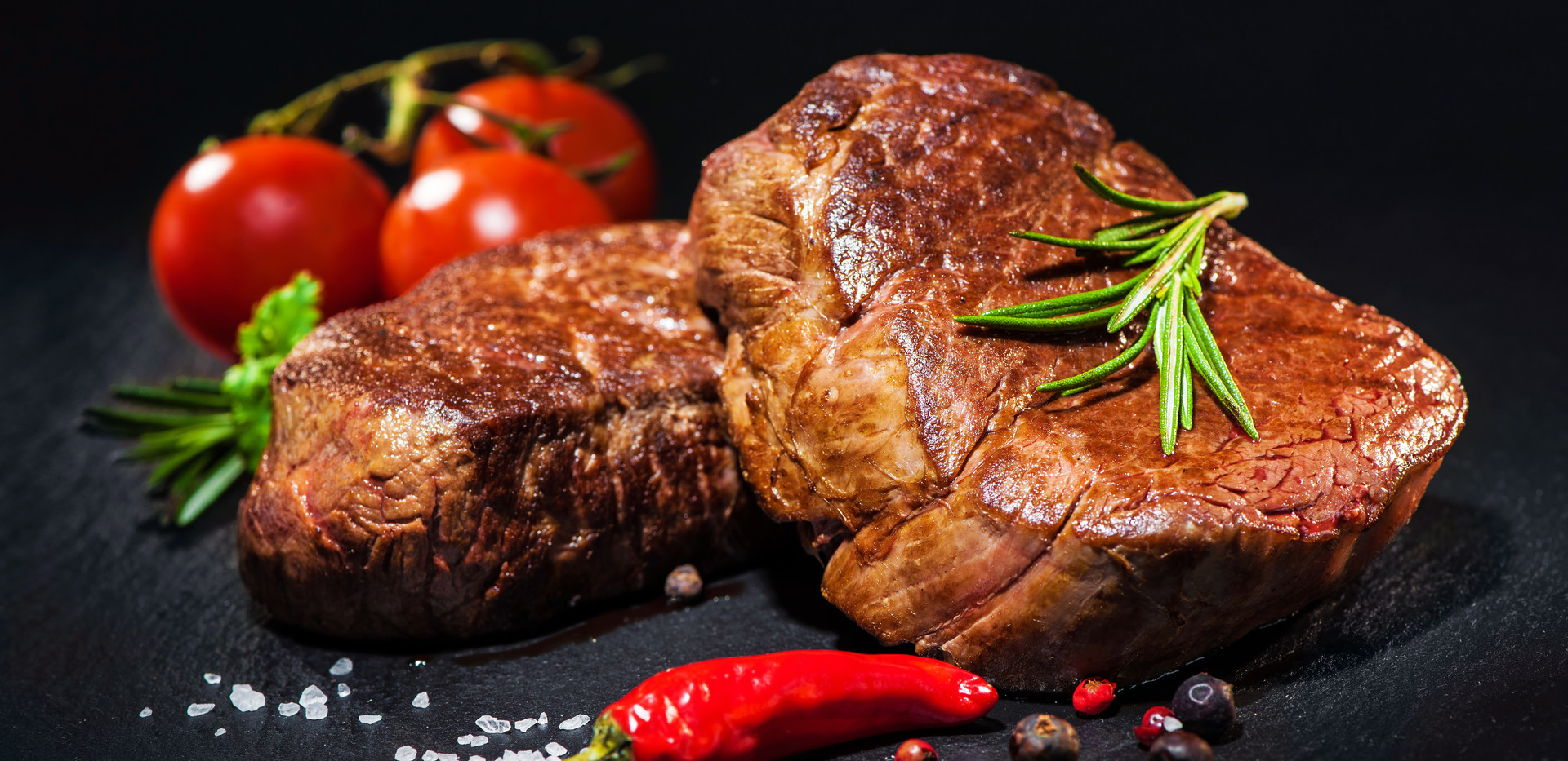 grilled beef fillet steaks with herbs an
