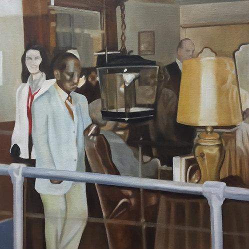 "Nonie and the Wax Museum: Sammy Davis Jr."", Original 20"" x 20"""