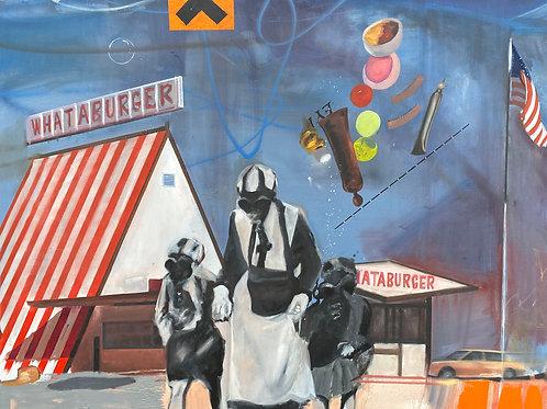 """Irritant (What-A-Burger)"""", Original 48"""" x 60"""""""