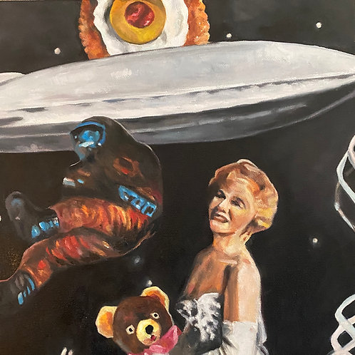 """Bearing Down"" Original Oil Painting 12"" x 12"""