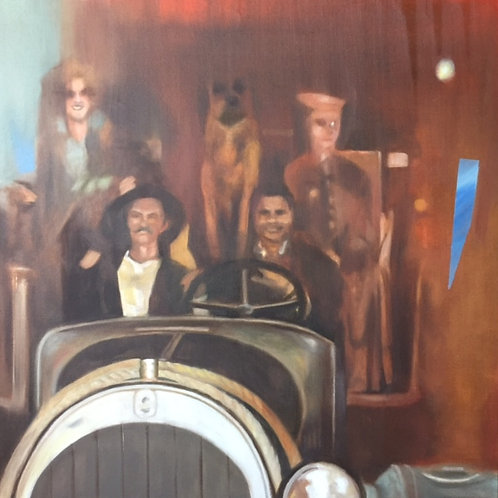 "Nonie and the Wax Museum: Beverly Hillbillies"", Original 20"" x 20"""