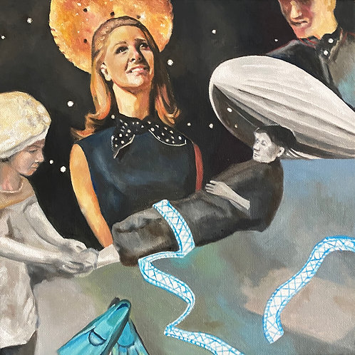 """""""Umbilical"""" Original Oil Painting 12"""" x 12"""""""